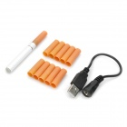 Quit Smoking USB Rechargeable Electronic Cigarettes w/ 10-Refills (555-Flavor)