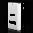 Protective ABS + PC Holder Case for Samsung i9220 - White