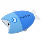 Mini Portable Fish Style Rechargeable MP3 Music Speaker - Blue