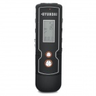 "0.9"" LED Digital Voice Recorder w/ MP3 Player Function - Black (8GB)"