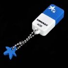 Genuine KINGMAX Cute Drive Mini USB 2.0 Flash Drive - Blue (4GB)
