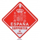 2012 Spain National Football Team Badge Pattern Car Suction Cup Decoration Board - Red