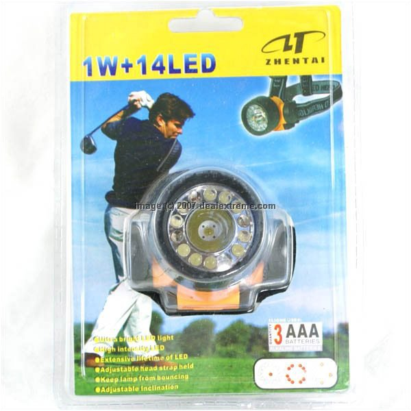 LED Headlamp 1W plus 14 LED