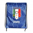 UEFA Euro 2012 Italia FIGC Logo Football / Soccer Drawstring Closure Bag - Blue
