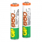 GP Rechargeable 1.2V 850mAh AAA NI-MH Batteries (Pair)