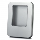 Universal Aluminum Alloy Gift Case w/ Window - Silver (11 x 8.5 x 2cm)