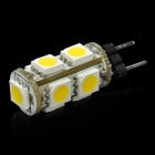 G4 1.8W 3500K 126-Lumen 9-5050 SMD LED Warm White Light Car Lamps (12V)