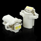 B8.3 0.6W 6500K 28-Lumen 2-3528 SMD LED White Light Car Dashboard Lamps (DC 12V / Pair)