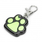 Cute Paw Style Yellow LED Pet Collar Pendant Light - Green + Black (2 x LR44)