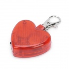 Heart Style Flashing Red LED Pet Collar Pendant Light - Red (2 x LR44)