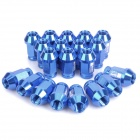 Light Weight D1 Spec Racing Wheel Lug Nuts - Blue (20-Piece Pack)