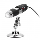 M12 portable usb 2.0 2.0mp cmos 500x digital microscope w/ 8-led illumination - black