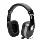 ASUS EQ-18 Stereo Headphones Headset w/ Microphone / Volume Control - Black (3.5mm-Plug)
