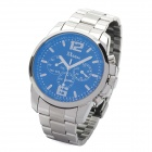 Fashion Stainless Steel Multi-Function Quartz Wrist Watch - Silver (1 x SR920SW)