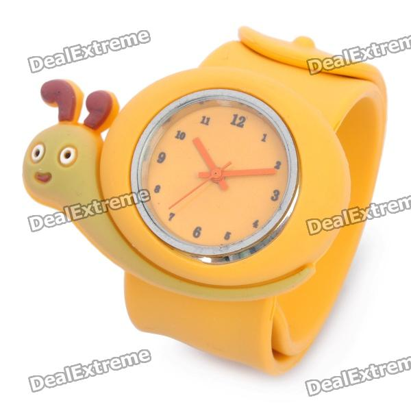 Cute Snail Style Slap-On Silicone Wrist Watch - Orange (1 x SR626) кастрюля appetite карусель 5 5 л 6rd221m