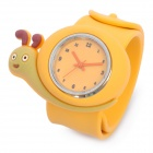 Cute Snail Style Slap-On Silicone Wrist Watch - Orange (1 x SR626)