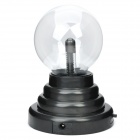 USB / 4 x AAA Powered Sound Activated Plasma Magic Ball - Black + Transparent