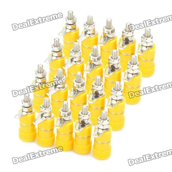 DIY 4mm Audio Speaker Binding Post Terminal - Yellow (20-Piece Pack) diy audio speaker binding post terminal blue 20 piece pack