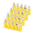 DIY 4mm Audio Speaker Binding Post Terminal - Yellow (20-Piece Pack)