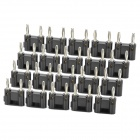 DIY Dual Banana Plug Connector - Black (20 Pieces Pack)