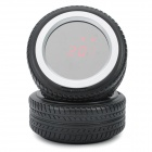 "Special Tire shaped Multi-Function 1.4"" LED Mirror Clock - Black"
