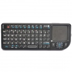 Rii USB Rechargeable Handheld 2.4G Wireless 66-Key Qwerty Keyboard w/ Touchpad & Laser Pointer