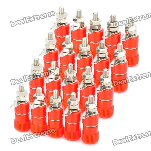 DIY 4mm Audio Speaker Binding Post Terminal - Red (20-Piece Pack) diy audio speaker binding post terminal blue 20 piece pack