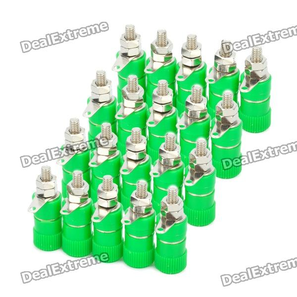 DIY 4mm Audio Speaker Binding Post Terminal - Green (20-Piece Pack) diy audio speaker binding post terminal blue 20 piece pack