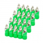 DIY 4mm Audio Speaker Binding Post Terminal - Green (20-Piece Pack)