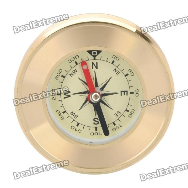 Hiking Camping Copper Alloy Compass - Golden