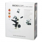 100~1200X Microscope w/ Lighting Pen / USB Electronic Eyepiece / Discovery Kit - White (2 x AAA)