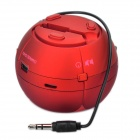Mini Stylish Flower Style Rechargeable MP3 Player Speaker w/ TF Slot - Red