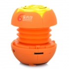 Mini Stylish Flower Style Rechargeable MP3 Player Speaker w/ TF Slot - Orange