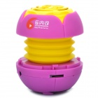 Mini Stylish Flower Style Rechargeable MP3 Player Speaker w/ TF Slot - Purple