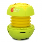 Mini Stylish Flower Style Rechargeable MP3 Player Speaker w/ TF Slot - Green