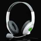 USB Connector Headset Headphone w/ Microphone / Volume Control - White (200cm-Cable)