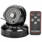 Rechargeable 300KP Surveillance Security Camera w/ 29-IR LED / TF Slot / Remote Control - Black