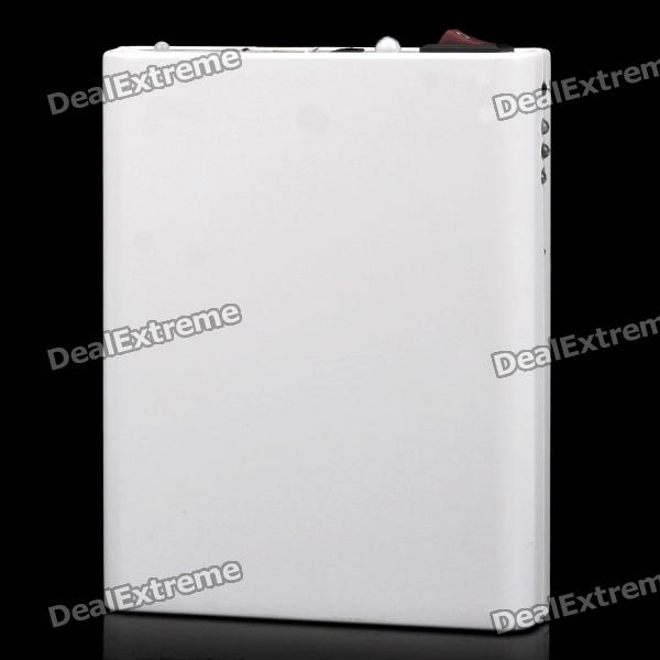 4 x 18650 Batteries Emergency Charger w/ LED Illumination Light / USB Port for Iphone / Ipad - White