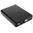 4 x 18650 Batteries Emergency Charger w/ LED Illumination Light / USB Port for Iphone / Ipad - Black