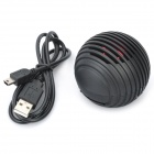 Mini Ball Style Rechargeable MP3 Player Speaker w/ SD Slot - Black