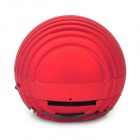 Mini Ball Style Rechargeable MP3 Player Speaker w/ SD Slot - Red