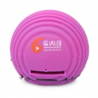 Mini Ball Stil wiederaufladbare MP3 Player Speaker w / SD-Steckplatz - Purple