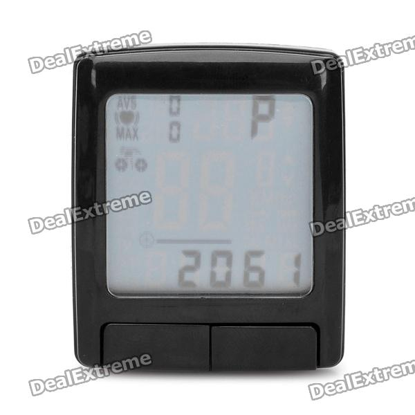 1.5 LCD Cycling Computer w/ Heart Rate Monitor / Speedometer / Clock / Thermometer (1 x CR2032)