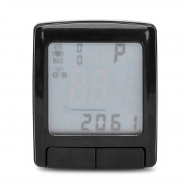 "1.5"" LCD Cycling Computer w/ Heart Rate Monitor / Speedometer / Clock / Thermometer (1 x CR2032)"