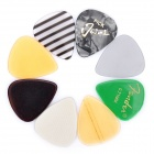0.71mm Plastic Guitar / Bass Picks - Colorful (8-Piece)