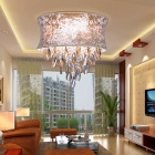 Elegant Crystal Pendant Light in Cylinder Shade