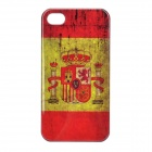 Classic Spain Flag Pattern Protective PC Back Case for iPhone 4 / 4S - Yellow + Red