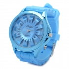 SANDA Sports Silicone Band Flower Dial Wrist Watch - Blue (1 x LR626)