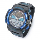 Sports Diving Wrist Watch w / Week / Stopwatch / Alarm Clock - Black + Blue (1 x MAXELL CR626)