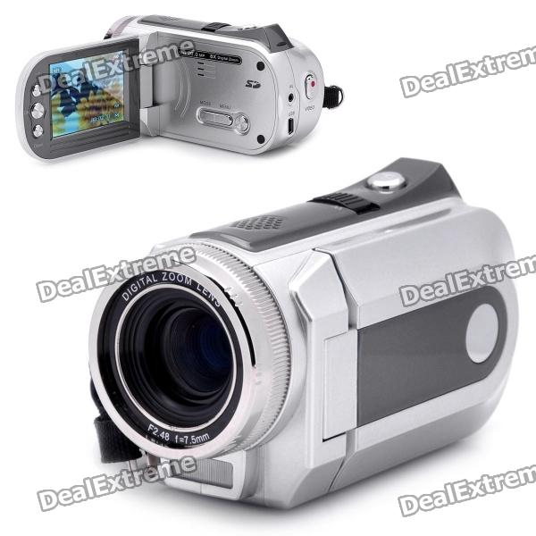5.0MP Digital Video Recorder Camcorder w/ SD / AV-Out - Silver (2.4 TFT LCD) 5 0mp digital video camcorder w 4x digital zoom motion detection hdmi sd slot 2 5 tft lcd